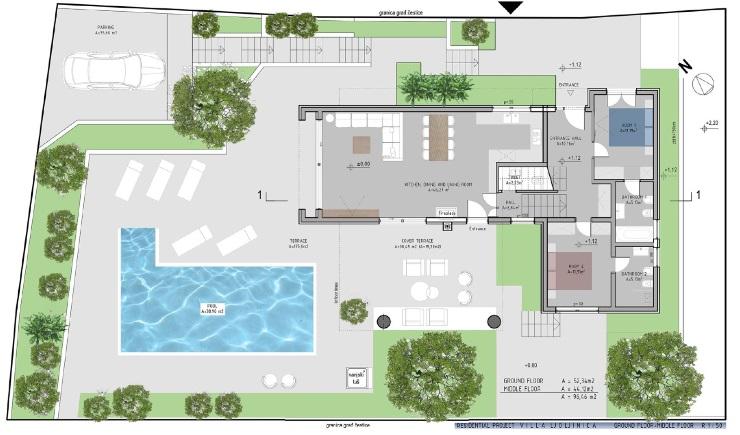 Predivna vila, veliki bazen
